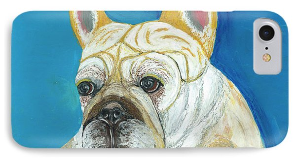 IPhone Case featuring the painting Marcel II French Bulldog by Ania M Milo