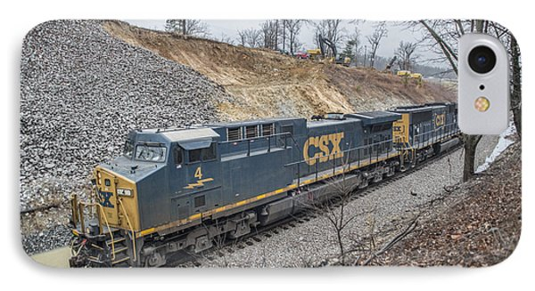March 14. 2015 - Csx Engine 4 IPhone Case by Jim Pearson