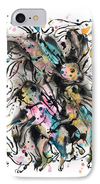 March Hares IPhone Case by Zaira Dzhaubaeva