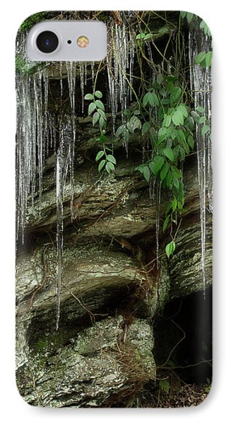IPhone Case featuring the photograph March Icicles 2 by Mike Eingle