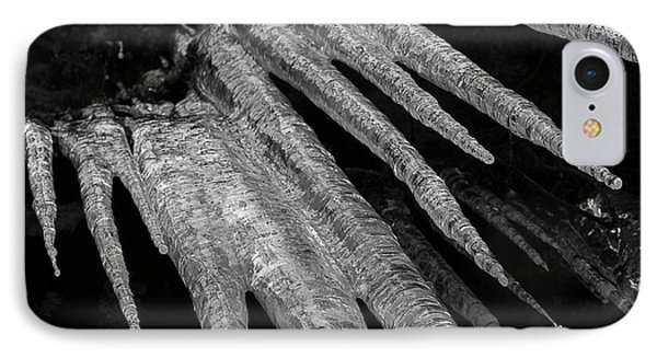 IPhone Case featuring the photograph March Icicles 3 by Mike Eingle