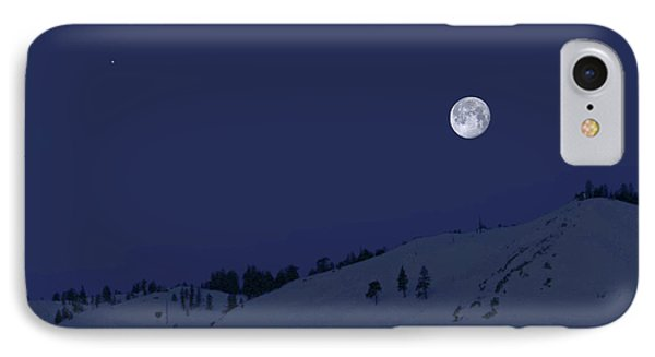 IPhone Case featuring the photograph March Moon With Jupiter by Donna Kennedy
