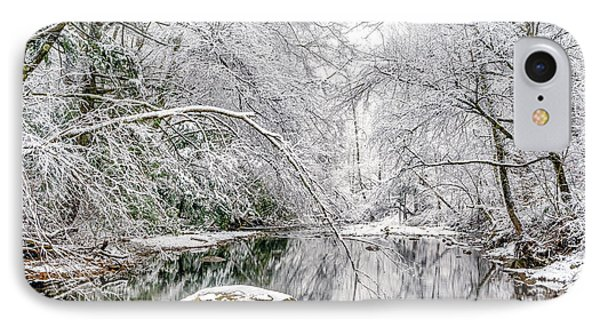 IPhone Case featuring the photograph March Snow Along Cranberry River by Thomas R Fletcher