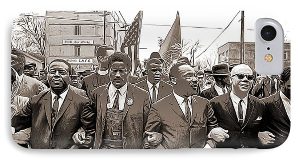 March Through Selma IPhone Case by Greg Joens