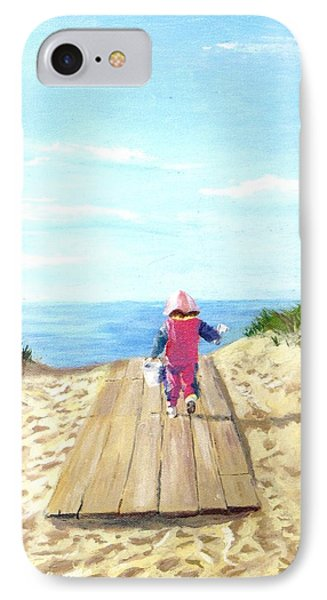 IPhone Case featuring the painting March To The Beach by Jack Skinner