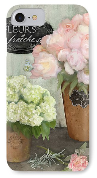 IPhone Case featuring the painting Marche Aux Fleurs 2 - Peonies N Hydrangeas by Audrey Jeanne Roberts
