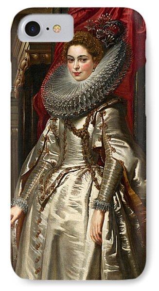 Marchesa Brigida Spinola Doria IPhone Case by Peter Paul Rubens