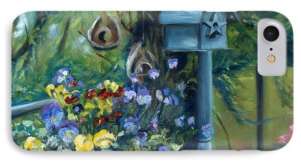 Marcia's Garden IPhone Case by Donna Tuten
