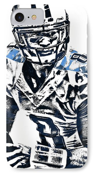 Marcus Mariota Tennessee Titans Pixel Art 3 IPhone Case by Joe Hamilton