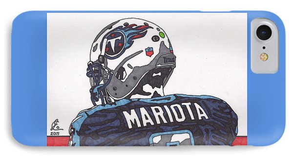 Marcus Mariota Titans 2 IPhone Case by Jeremiah Colley