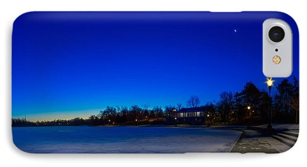 IPhone Case featuring the photograph Marcy Casino Winter Twilight by Chris Bordeleau