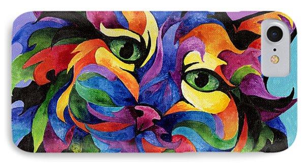 Mardi Gras Cat Phone Case by Sherry Shipley