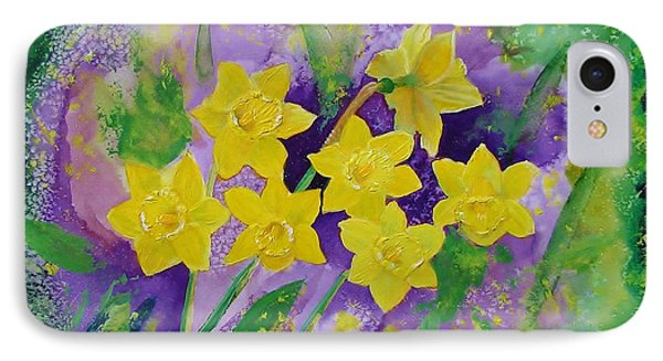 Mardi Gras Daffodils IPhone Case