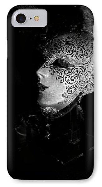 Mardi Gras Mask  B-w Phone Case by Christopher Holmes