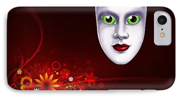 Mardi Gras Mask Red Vines IPhone Case