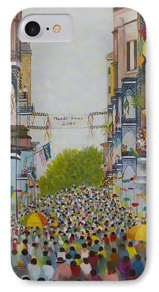 Mardi Gras On Bourbon Street Phone Case by Douglas Ann Slusher