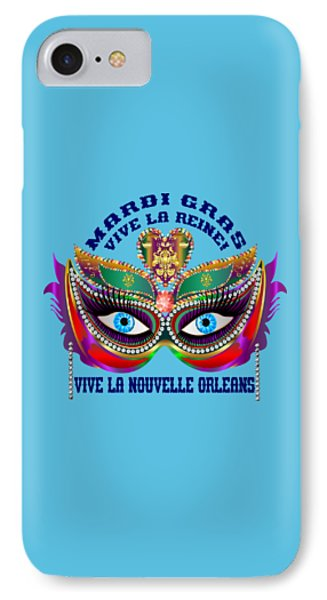 Mardi Gras Queen Light Producks Only IPhone Case by Bill Campitelle