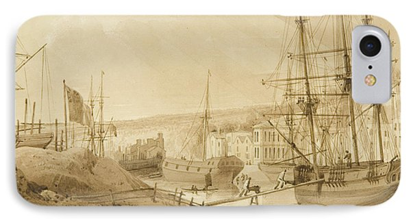 Mardyke Seen From Near Hilhouse's Dock IPhone Case by Thomas Leeson the Elder Rowbotham