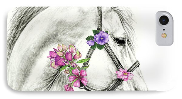 Mare With Flowers IPhone Case by Heidi Kriel