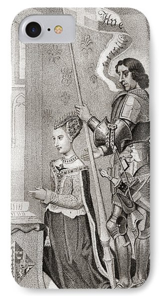 Margaret Of Denmark With St. Canute IPhone Case