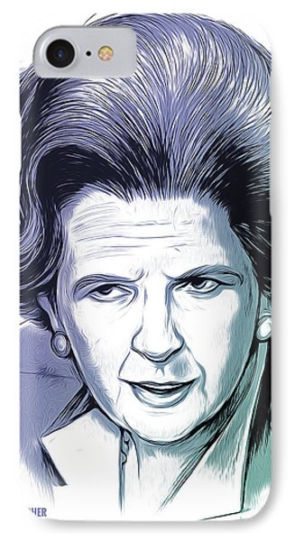 Margaret Thatcher IPhone Case by Greg Joens