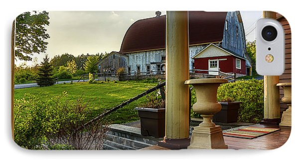 IPhone Case featuring the photograph Margaretville Mountain Inn by Paula Porterfield-Izzo