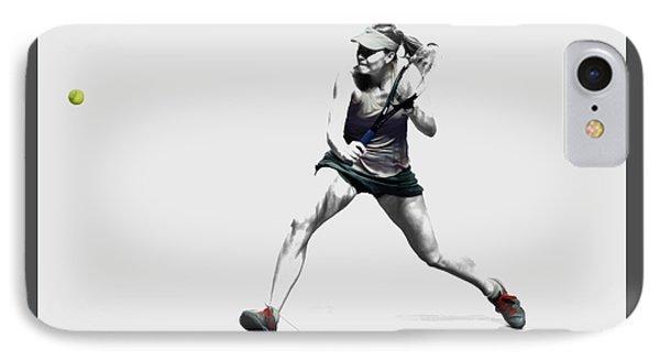 Maria Sharapova 3y IPhone Case by Brian Reaves