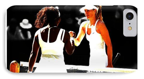 Maria Sharapova And Serena Williams Rivalry IPhone Case by Brian Reaves
