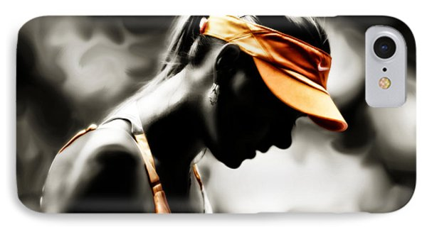 Maria Sharapova Deep Focus IPhone Case by Brian Reaves