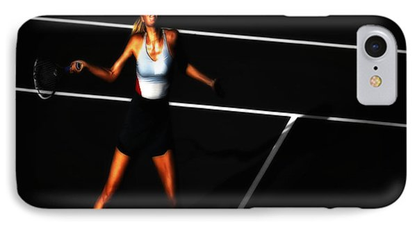 Maria Sharapova Focus IPhone Case by Brian Reaves