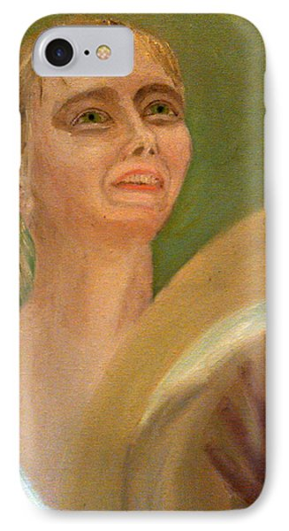 Maria Sharapova In Light Reflected From The Wimbledon Trophy IPhone Case