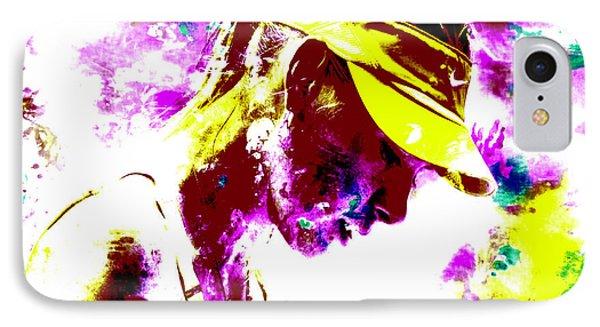 Maria Sharapova Paint Splatter 4c IPhone Case by Brian Reaves