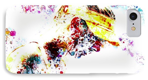 Maria Sharapova Paint Splatter 4p                 IPhone Case by Brian Reaves