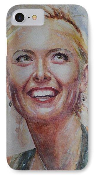Maria Sharapova - Portrait 3 IPhone Case