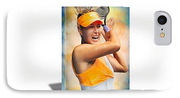Maria Sharapova Tennis Canvas Art IPhone Case