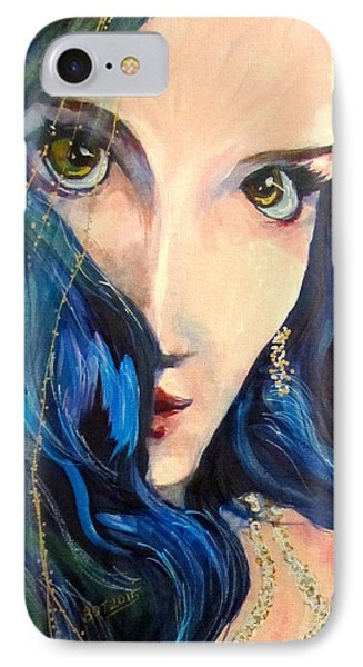 Mariah Blue IPhone Case by Barbara O'Toole