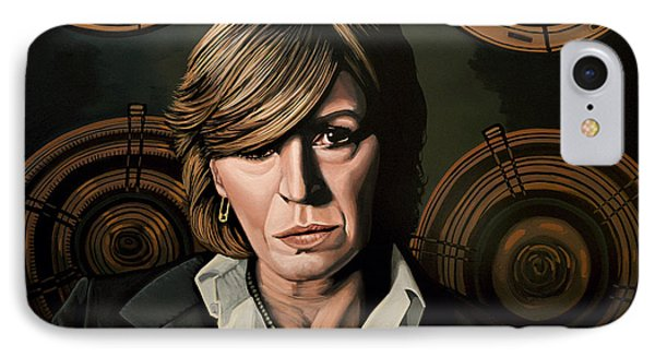 Musician iPhone 7 Case - Marianne Faithfull Painting by Paul Meijering