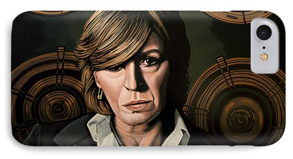 Marianne Faithfull Painting IPhone Case by Paul Meijering