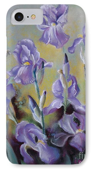 Maria's Irises IPhone Case by Elena Oleniuc