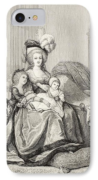 Marie-antoinette And Her Children. From IPhone Case by Vintage Design Pics