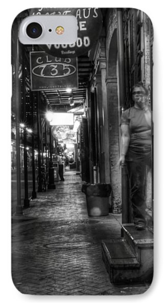 Marie Laveau's House Of Voodoo At Night In Black And White IPhone Case