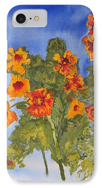 IPhone Case featuring the painting Marigolds by Sandy McIntire