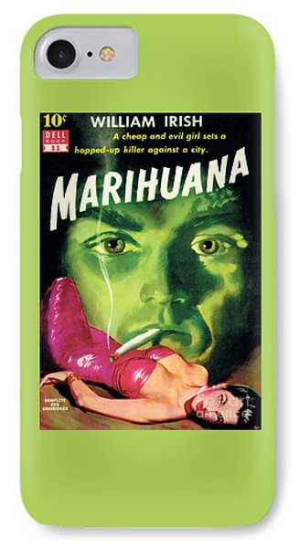 IPhone Case featuring the painting Marihuana by Bill Fleming