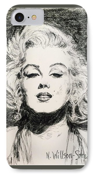 Marilyn, Black And White IPhone Case