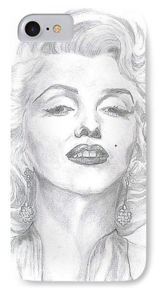 Marilyn  IPhone Case by Carol Wisniewski