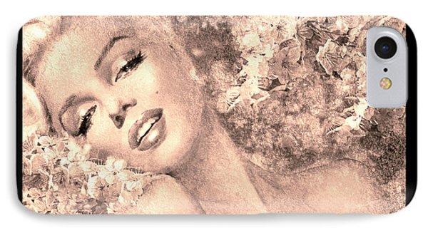 Marilyn Cherry Blossom, B Sepia IPhone Case