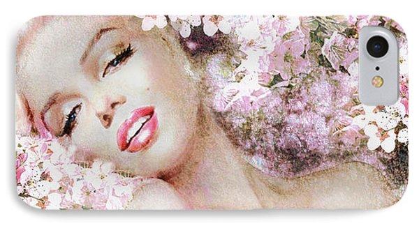 Marilyn Cherry Blossom B IPhone Case