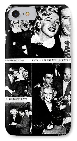 Marilyn Monroe And Joe Dimaggio 1950s Photos By Unknown Japanese Photographer IPhone Case
