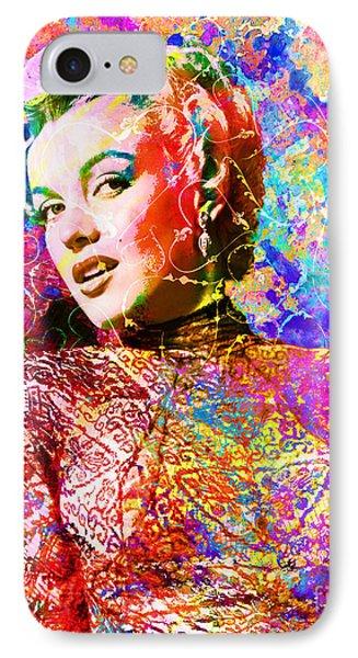 Marilyn Monroe Art  IPhone Case by Ryan Rock Artist