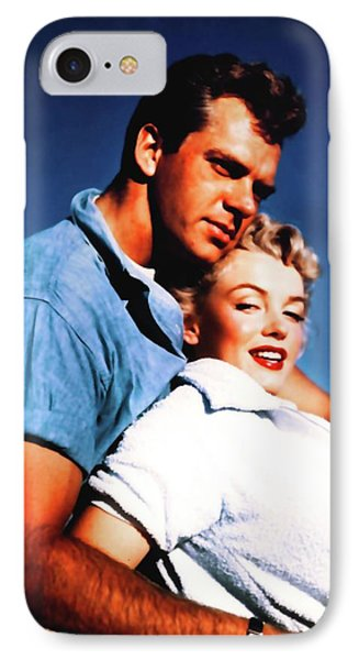 IPhone Case featuring the photograph Marilyn Monroe Blond Bomb Shell Clash By Night by R Muirhead Art